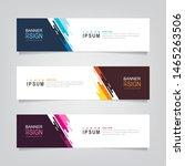 vector abstract banner design... | Shutterstock .eps vector #1465263506