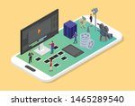 mobile video editing and...   Shutterstock .eps vector #1465289540