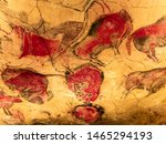 Red bison from Altamira cave