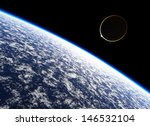 atmosphere of the planet earth. ... | Shutterstock . vector #146532104