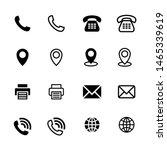 business icons set vector...   Shutterstock .eps vector #1465339619