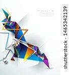 vector 3d geometric  polygon ...   Shutterstock .eps vector #1465342139