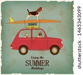 Vintage Card With Driving Dogs...