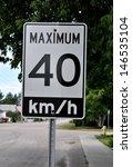 maximum speed limit 40km hr | Shutterstock . vector #146535104