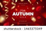 autumn sale banner background... | Shutterstock .eps vector #1465375349