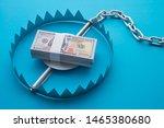 Pile Of Money Dollar Banknotes...