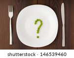 Question Mark Made Of Peas On...