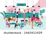 informational flyer signboard... | Shutterstock .eps vector #1465411439