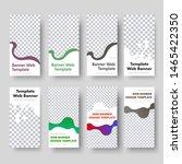 8 templates of vertical web... | Shutterstock .eps vector #1465422350