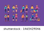 people group with suitcases...   Shutterstock .eps vector #1465429046