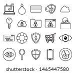 bundle of cyber security... | Shutterstock .eps vector #1465447580