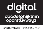 lowercase vector geometric font.... | Shutterstock .eps vector #1465452710