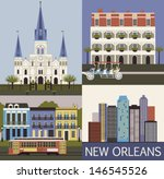 new orleans. louisiana usa.... | Shutterstock .eps vector #146545526