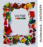 frame of colorful pieces of... | Shutterstock .eps vector #146545694
