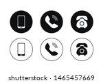 phone icon vector set. flat... | Shutterstock .eps vector #1465457669