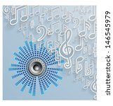 abstract music background.... | Shutterstock .eps vector #146545979