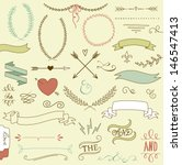 wedding graphic set  arrows ... | Shutterstock .eps vector #146547413