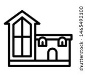 unusual house icon. outline... | Shutterstock .eps vector #1465492100