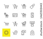 shopping cart vector line icons ... | Shutterstock .eps vector #1465503443