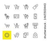shopping cart vector line icons ... | Shutterstock .eps vector #1465503443