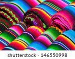 colorful mexican blankets for... | Shutterstock . vector #146550998