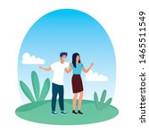 young lovers couple in the... | Shutterstock .eps vector #1465511549