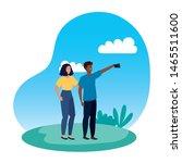 interracial lovers couple...   Shutterstock .eps vector #1465511600