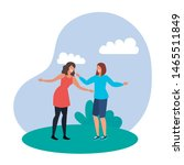 young girls friends celebrating ...   Shutterstock .eps vector #1465511849