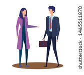elegant young business couple... | Shutterstock .eps vector #1465511870