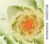 Bright Colorful Fractal Flower...