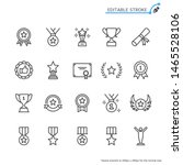awards line icons. editable... | Shutterstock .eps vector #1465528106