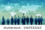 global network concept. map of... | Shutterstock . vector #1465533263