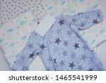 folded cozy fleece baby boy... | Shutterstock . vector #1465541999