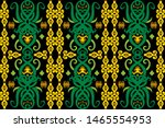 seamless pattern of borneo... | Shutterstock .eps vector #1465554953