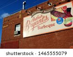 Small photo of Kansas City, Missouri - January 1 2016: The sign to the famous Arthur Bryant's Barbeque.