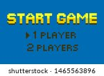 start game vector  choice... | Shutterstock .eps vector #1465563896
