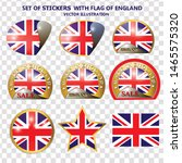 made in england stickers.... | Shutterstock .eps vector #1465575320