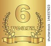 golden laurel wreath with digit ...   Shutterstock . vector #146557823