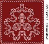 folk motif design wall painting   Shutterstock . vector #146558420