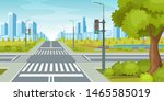 city road with crossroads... | Shutterstock .eps vector #1465585019