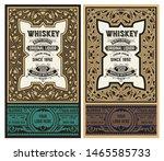 whiskey label for packing.... | Shutterstock .eps vector #1465585733