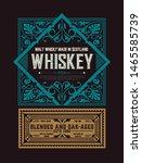 old  label design for whiskey... | Shutterstock .eps vector #1465585739