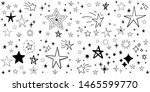 set of hand drawn stars. doodle ...   Shutterstock .eps vector #1465599770
