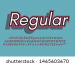 retro color font and alphabet.... | Shutterstock .eps vector #1465603670