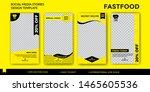 junk food  social media design...   Shutterstock .eps vector #1465605536