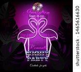 romantic night party invitation....   Shutterstock .eps vector #1465616630