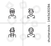 avatar  human  people lineal... | Shutterstock .eps vector #1465630286