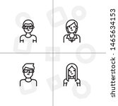 avatar  human  people lineal... | Shutterstock .eps vector #1465634153