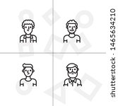 avatar  human  people lineal... | Shutterstock .eps vector #1465634210