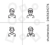 avatar  human  people lineal... | Shutterstock .eps vector #1465634276